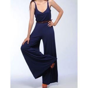 BB Dakota Twisted Strap Jersey Jumpsuit